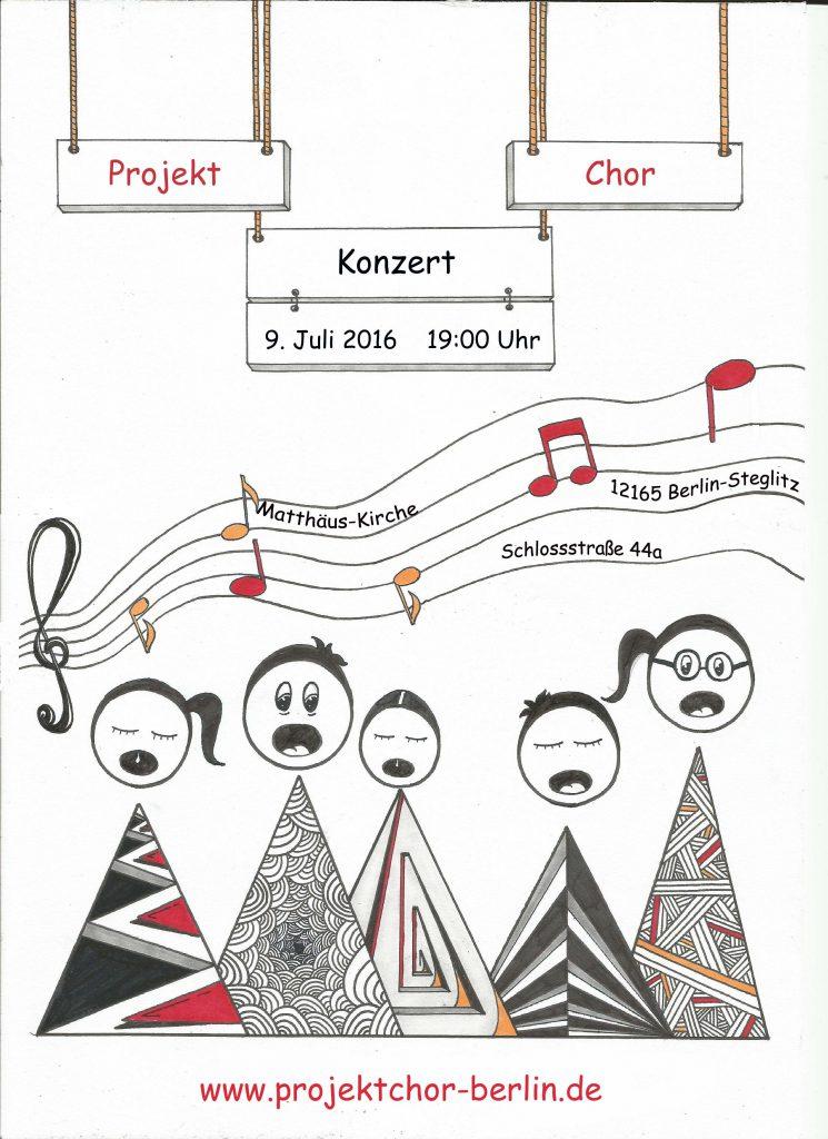 Konzert Projektchor 9.7.16 Flyer
